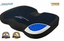 Sojoy Cool Gel Memory Foam Seat Cushion Back Bottom Pain Pre
