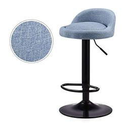 Aimarn Bar Stool Adjustable Swivel Bar Chair Faux Leather Ki