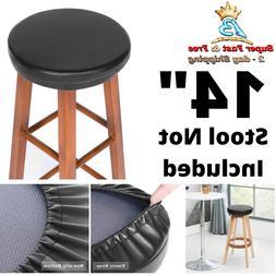 bar stool round leather foam padded seat
