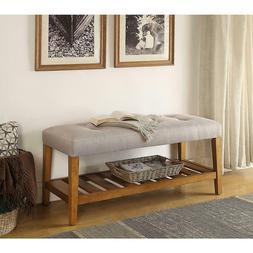 Bench Cushion Foam Seat Wood Shelf Heavy Duty Weather Resist