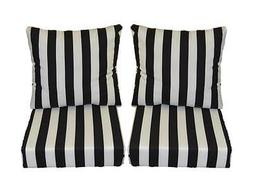 black and white stripe cushions for outdoor