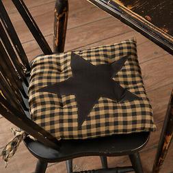 Black Star Chair Pad 15x15