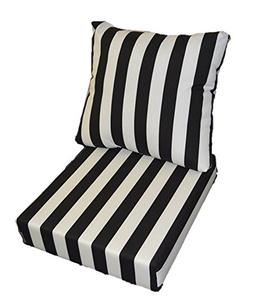 Resort Spa Home Decor Black and White Stripe Cushions for Pa