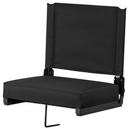 Bleacher Seats With Backs Black Stadium Chair Cushion Comfy