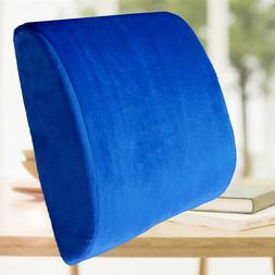 Blue Cushion Back Support Travel Pillow Memory Foam Car Seat