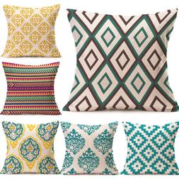 Boho Geometric Cushion Cover Pillows Case Square Sofa Seat W
