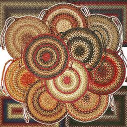 Braided Jute Chair Pads by Homespice Decor  15 Inch Diameter