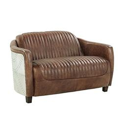 ACME Brancaster Retro Brown Top Grain Leather and Aluminum L