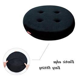 baibu Breathable Round Bar Stool Cover Seat Cushion Black 14