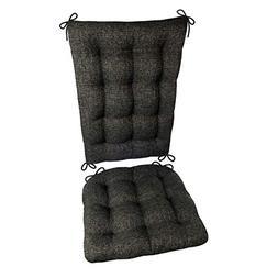 Barnett Products Brisbane Charcoal Black Rocking Chair Cushi