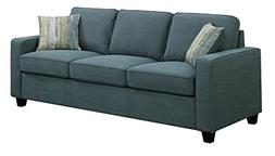 Scott Living Brownswood Fabric Stationary Sofa with Accent P
