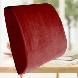 Burgundy Cushion Travel Pillow Memory Foam Seat Home Office