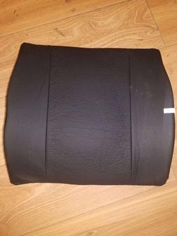 C50 Black Back Cushion Memory Foam Lumbar Support Travel Pil