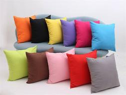 Candy Color Pillow Case Sofa Cushion Seat Bench Outdoor Pad