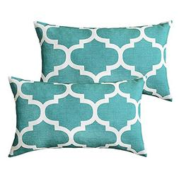 puredown Canvas Decorative Cushion Covers Sofa Chair Seat Th