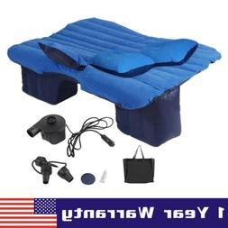 Car Air Bed Inflatable Mattress Back Seat Cushion w/ Pillows