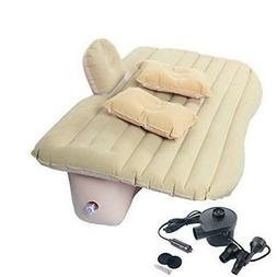 Car Air Bed Inflatable Mattress Back Seat Cushion w/. Two Pi