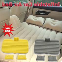 Car Air Bed Inflatable Mattress Rest Seat Cushion w/Pillows