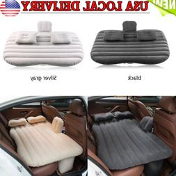 Car Air Bed Inflatable Mattress Seat Cushion w/ Pillows Pump