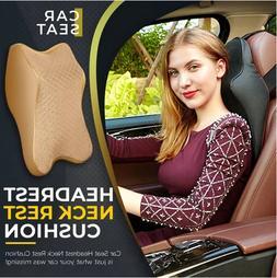 Car Seat Headrest Pad Memory Foam Pillow Head Neck Rest Supp