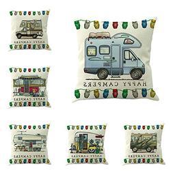 MOWANG Car Theme Square Pillow Case Home Decorative Cotton L