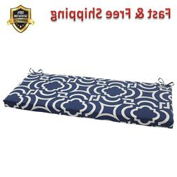 Carmody Bench Cushion Navy Polyester Fiber Filling Imported