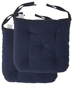"Cottone 100% Cotton Chair Pads w/ Ties    16"" x 15"" Roun"