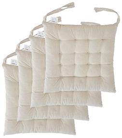 "Cottone 100% Cotton Chair Pads w/ Ties    16"" x 16"" Squa"