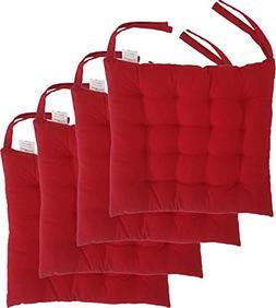 "Cottone 100% Cotton Chair Pads w/Ties  | 16"" x 16"" Squar"