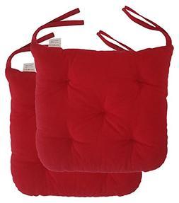 "Cottone 100% Cotton Chair Pads w/ Ties  | 16"" x 15"" Roun"