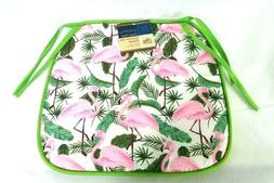 Home Collection Chair Pads Pink Flamingos 15x13.75 Outside Y