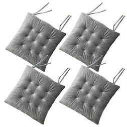 Cosyroom Set of 4 Chair Pads and Seat Cushions with Ties Non