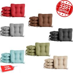 Chair Seat Cushion Pads w/ Ties Kitchen Dining Room 4-Pack 1