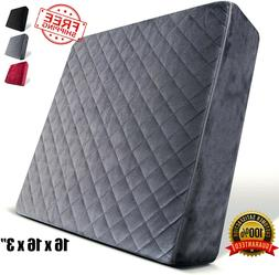 Chair Seat Cushion Soft Square Thick Foam Pads for Any Chair