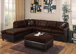 Chocolate Easy Rider Sectional Sofa Set Modern Sofa & Chaise