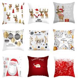Christmas <font><b>Pillow</b></font> Coussin Cartoon Geometr