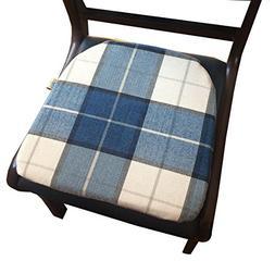 Sideli 6 pack Cotton Decorative Chair pad Blue Seat Cushion