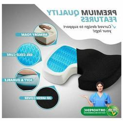 Coccyx Cushion Orthopedic Memory Foam Seat Gel Pad Office Ch