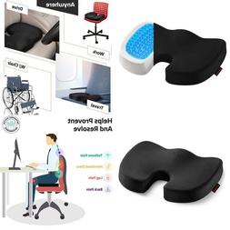 Ziraki Coccyx Orthopedic Memory Foam Seat Cushion Gel-Enhanc