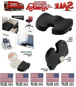 Coccyx Orthopedic Memory Foam Seat Cushion Tailbone Pain Rel