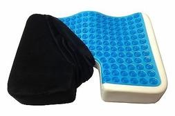 Kieba Coccyx Seat Cushion Cool Gel Memory Foam Large Orthope