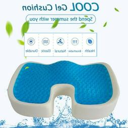 Cooling Gel Seat Cushion Memory Foam Coccyx Car & Office Cha
