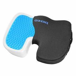 Plixio Cooling Gel Seat Cushion Memory Foam Coccyx Car & Cha