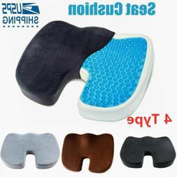 Cooling Gel Seat Cushion Memory Foam Coccyx Orthopedic Non-S