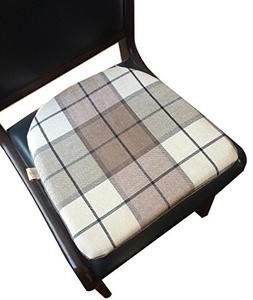 Sideli Cotton Seat Cushion Pack of 6 Chenille Check Memory F