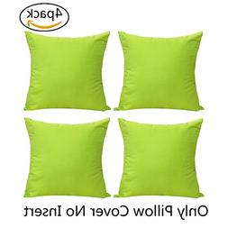 4-Pack 100% Cotton Comfortable Solid Decorative Throw Pillow