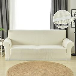 Argstar Jacquard Couch Slip Cover Sofa Protector Cover  Whit