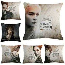 Cushion Cover Game Of Thrones Pillowcase Cotton Bedroom Seat
