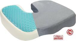 Cushion Memory Foam Seat ComfiLife Gel-Enhanced Non Slip Coc