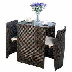cushioned wicker patio set seat